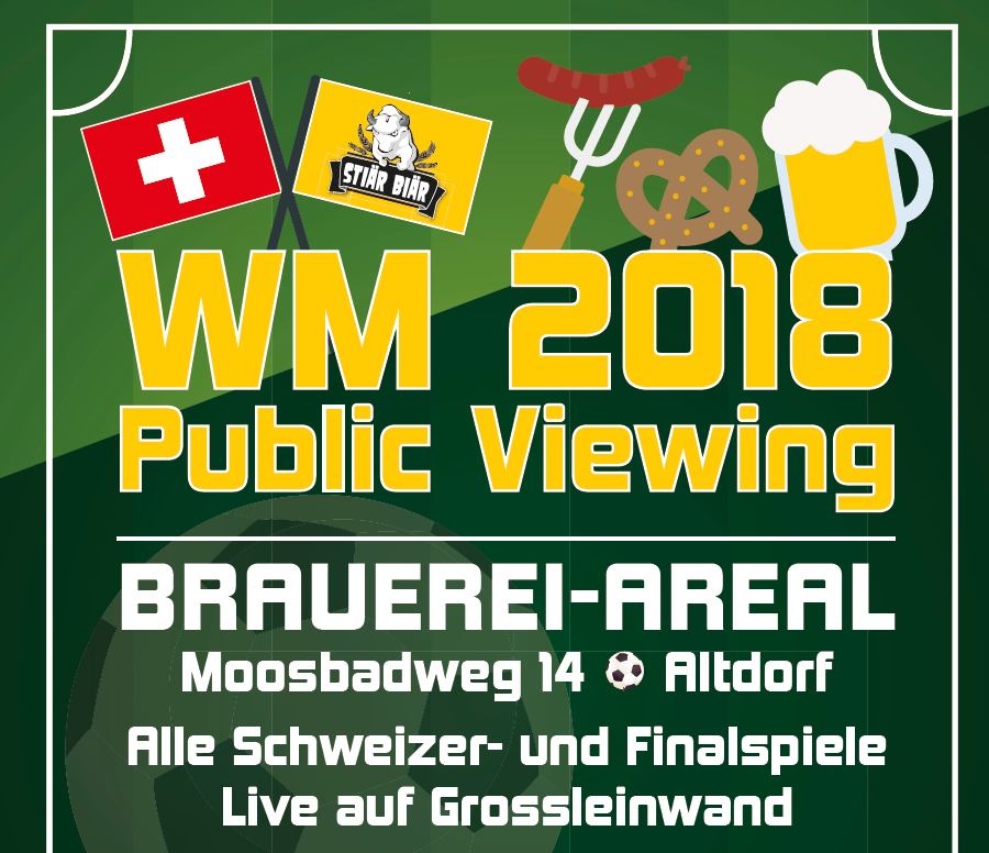 WM Public Viewing bei Stiär Biär