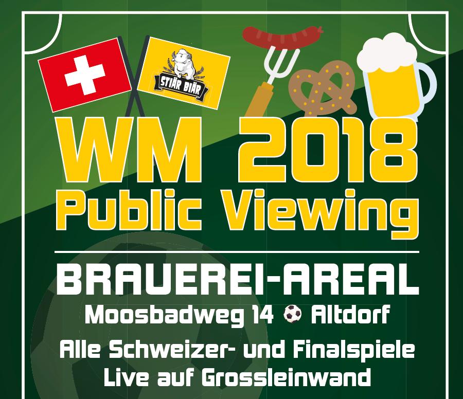 WM Public Viewing bei Stiär Biär